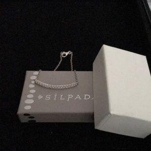 Silpada sterling silver Elisa Cubic Bar Bracelet
